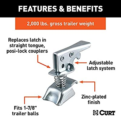 CURT 25094 Posi-Lock Coupler Replacement Latch for 1-7/8-Inch Trailer Hitch Ball: Automotive