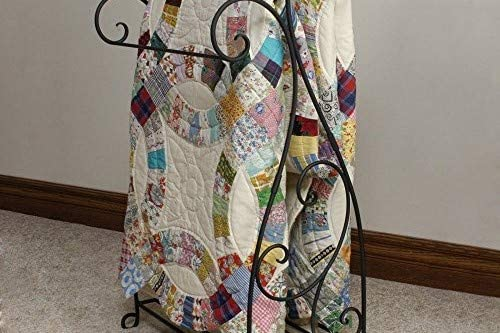 J J Wire Scrolled 2-Piece Quilt Rack