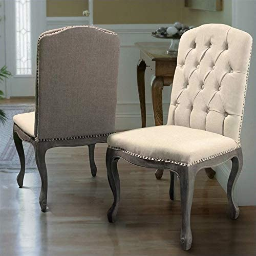 Amazon Com Noble House Jack Dining Chairs In Beige Set Of 2 Chairs
