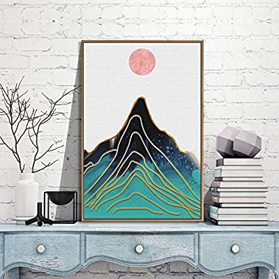 Framed for Living Room Bedroom Nordic Style Mountains for 24