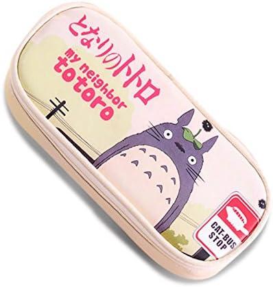 Piel sintética estuche Cartoon Mi Vecino Totoro School Bolsa de lápiz, color beige: Amazon.es: Oficina y papelería