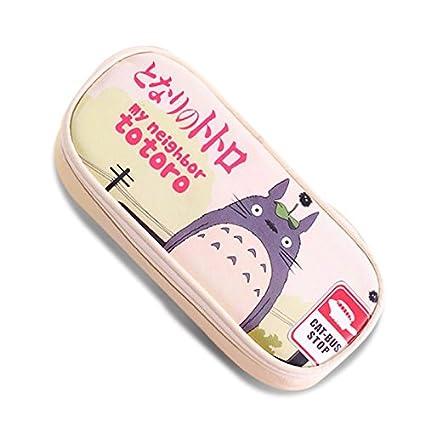 Piel sintética estuche Cartoon Mi Vecino Totoro School Bolsa ...