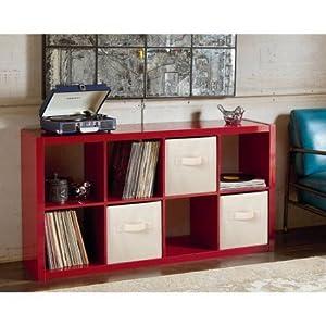 Modern Better Homes And Gardens 8 Cube Organizer High Gloss Red Lackquer Kitchen