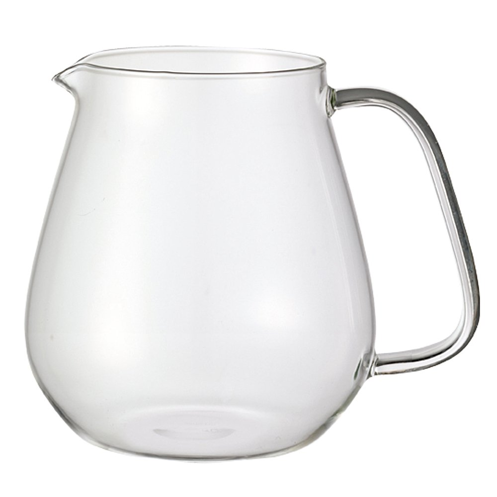 Japan Import 8336 - Heat-resistant Glass Teapot with Stainless Steel Strainer in Lid 24.35 Fl. Oz. Kinto Stainless Unitea One Touch Teapot 720 Milliliter