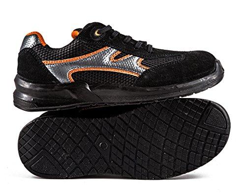 Zapatillas de Seguridad Laboral de Hombre Zapatos de Trabajo ultraligeros con Puntera de Acero 5553 Black Hammer escaladoras Tobilleras: Amazon.es: Zapatos ...