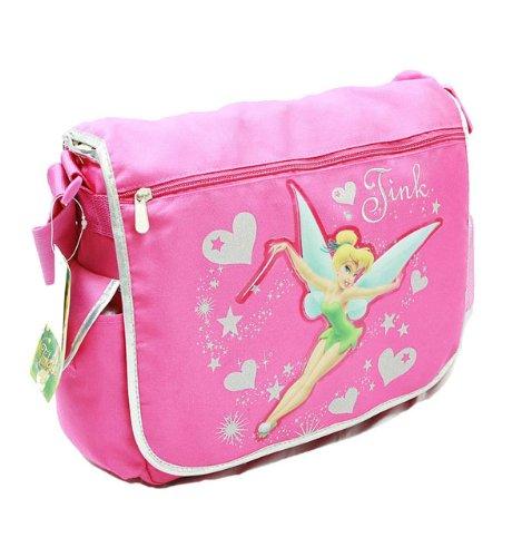 Disney Tinkerbell Magic Wand Pink School Messenger Bag
