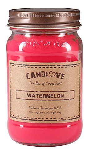 Watermelon Scented Jar Candles (CANDLOVE