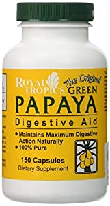 Green Papaya Digestive Enzymes Royal Tropics 150 Caps