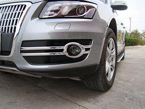 2008-2012 For Audi Q5 Exterior Trim Front Fog Light Lamp Covers Decoration ABS Chrome