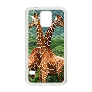 Cool Giraffes with Sunglasses Samsung Galaxy S5 Cell Phone Case White gtny