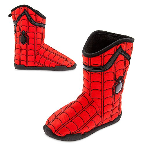 Marvel Spider-Man Deluxe Slippers for Kids Size 11/12 Red
