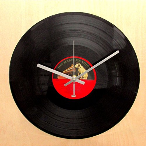 Vinyl Record Clock Making Kit - Convert Your Old Records To Clocks (12'' Record Kit, 119mm Silver)