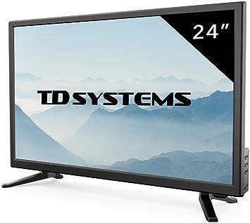 TD Systems - Televisores Led Full HD 24 Pulgadas K24DLT7F (Resolución Fullhd/HDMI 1/VGA 1/USB Repoductor y Grabador) TV Led TDT HD DVB-T2 (Reacondicionado Certificado): Amazon.es: Electrónica