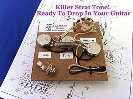 Amazon.com: Stratocaster Prewired Wiring Harness Kit - Eric Johnson Wiring  Set Up .1uf Vintage PIO Tone Cap: Musical InstrumentsAmazon.com