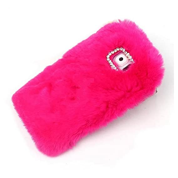 newest 448eb 09b45 Hot Galaxy S6 Edge Plus Fur Cases,Rejected all traditions Lovely Diamond  Bow Bling Furry Rabbit Fur Shiny Plush Fluffy Soft Warm Case Back Cover for  ...