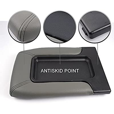 New Center Console Lid Kit for 99-07 Silverado, Avalanche, Suburban, Sierra, Yukon, Escalade - Replaces OEM 19127365, 19127364,19127365,19127366- Light Gray: Automotive