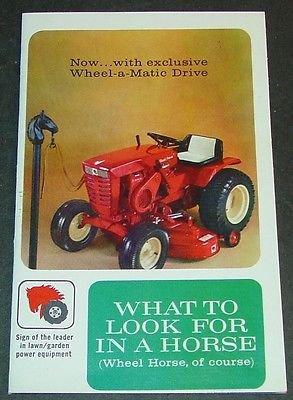 (VINTAGE 1960'S WHEEL HORSE LAWN & GARDEN TRACTOR SALES BROCHURE 20 PAGES (637))