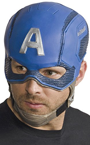 Marvel Men's Civil War Captain America Full Vinyl Mask, Multi, One Size