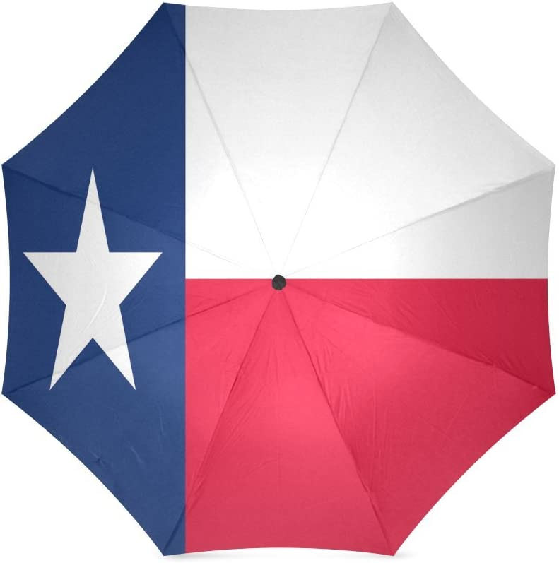 foldable Umbrella Custom Texas State Flag Compact Travel Windproof Rainproof