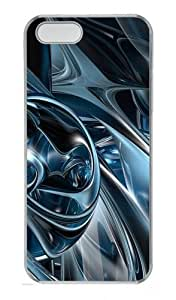 3D Abstract Hd Polycarbonate Plastic Hard Case for iPhone 5S and iPhone 5 Transparent