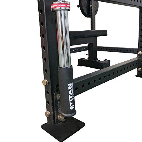Single Titan Vertical Mount Olympic Barbell Holder for T-3 Power Rack ()