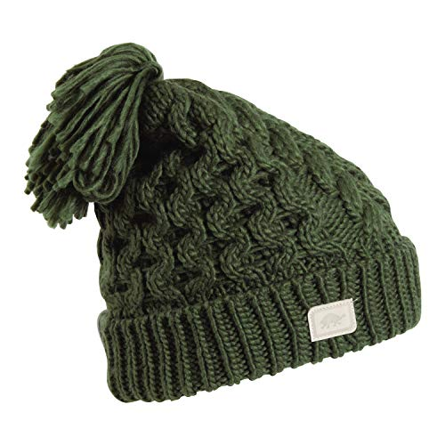 Turtle Fur Jovie Women's Fleece Lined Hand Knit Tassel Pom Winter Hat Moss ()
