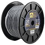 DB Link STSW12WG250 Superflex Series White/Gray Speaker Wire, 12 Gauge, 250ft