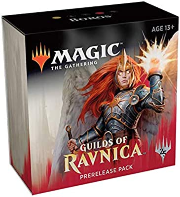 Magic The Gathering: MTG: Guilds of Ravnica Prerelease Pack Boros  (Pre-Pelease Promo + 6 Boosters + d20 Spindown Counter) Kit
