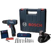 """Parafusadeira e Furadeira a Bateria de 3/8"""" Bosch GSR 120-LI, 12V, com 2 Baterias 2,0Ah, 1 Carregador BIVOLT, Kit 21…"""