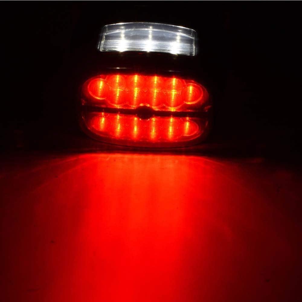 pour Harley Fatboy Heritage Softail Lo FLST FLSTF FLSTFB FLSTC QOHFLD Lampe de Plaque dimmatriculation de feu arri/ère de feu arri/ère de Moto LED