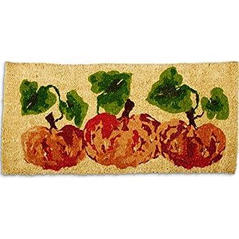"tag - Fall Coir Mat, Decorative All-Season Mat for the Front Porch, Patio or Entryway (40"" x 18"" x 1"", Pumpkin Estate)"