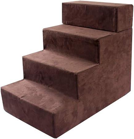 MDBLYJ 4 Pasos Mascota Paso Gato Perro pequeño Envejecido Animal fácil Subir escaleras Escalera Ayuda Escalera facil: Amazon.es: Hogar