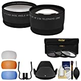 Essentials Bundle for Nikon D3400 & D5600 Camera with 18-55mm VR AF-P Lens with 3 UV/CPL/ND8 Filters + Hood + Pop-Up Flash Diffusers + Tele/Wide Lens Kit