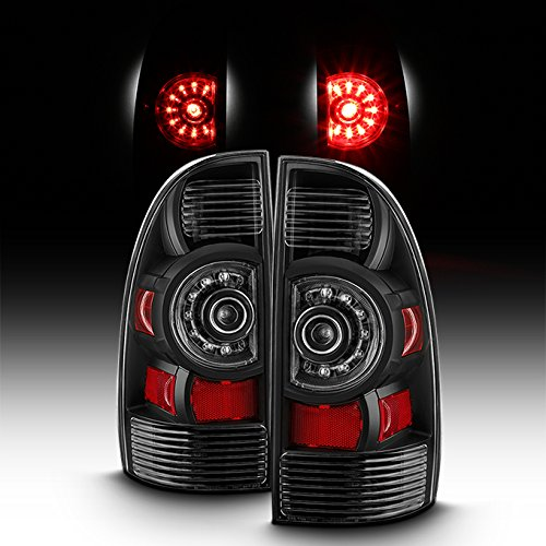 For 2005-2015 Toyota Tacoma Factory Style Black LED Pair Tail Lights Brake Lamps (Style Led Tail Lights Lamps)