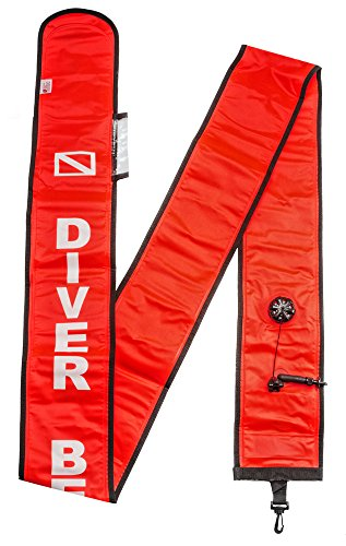 Innovative Scuba Super Deluxe Open Ocean 10-Foot Cordura Signal Tube, SP0140 ()