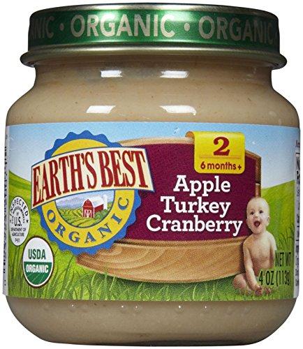Earth's Best 2nd Foods Seasonal Harvest - Apple Turkey Cranberry - 4 oz - 12 pk ()