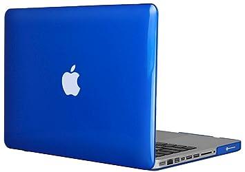 Topideal - Carcasa rígida de cristal para MacBook Pro de 13,3 pulgadas (no para MacBook Pro Retina) (modelo: A1278) azul real 13 pulgadas