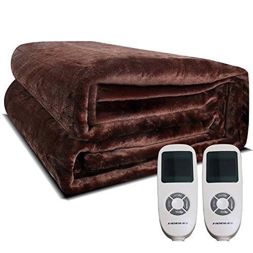 Modern-Depo Electric Heated Flannel Blanket w/Temperature Timing Control Soft Warm King Size for Kids Adult Home Use