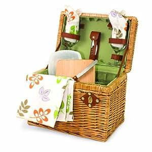 Picnic tiempo Napa Botanica y cesta con vino y Queso Blanco dos