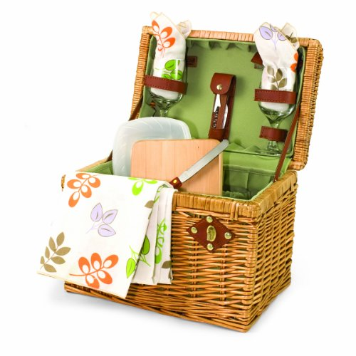 Picnic Basket Wine Glass (Picnic Time 'Napa' Picnic Basket with Wine and Cheese Service for Two, Botanica)