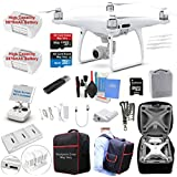 DJI Phantom 4 PRO Drone Quadcopter Bundle Kit with 2 Batteries, 4K Professional Camera Gimbal and MUST HAVE Accessories