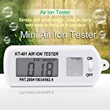 Simply Silver - Tester Meter - Air Ion Tester Meter Counter -Ve Negative Ions With Peak Maximum Hold Battery US
