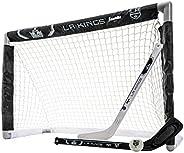 Franklin Sports NHL Los Angeles Kings Team Mini Hockey Set, Junior, Black