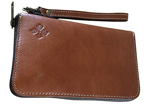 Patricia Nash Catania Double Zip Leather Wristlet