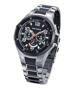 Time Force TF3131M01M - Reloj analógico de caballero de cuarzo con correa de acero inoxidable plateada