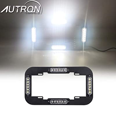 "AutronLEDLight 13.5"" License Plate Strobe Light 24 W LED Emergency Traffic Adviser Warning Flash Strobe Lights (White): Industrial & Scientific"