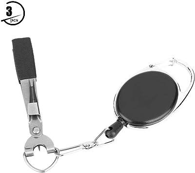 Fishlor Angelknoten-Bindewerkzeug 3er-Set Multifunktions-Angelknoten-Schnellknoten-Werkzeug Nagelknoten-Bindewerkzeug Schnurschneider-Nipper