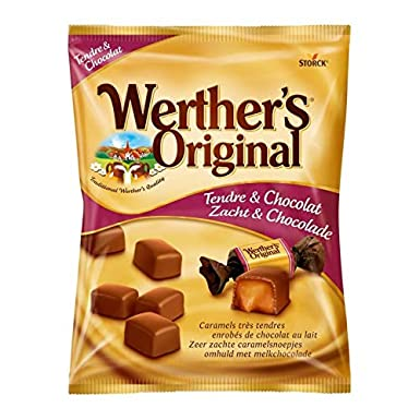 WertherS Original - Sobre De Caramel Tender Chocolate 180G - Caramel Tendre Chocolat Sachet 180G -