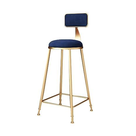 Swell Amazon Com Jxyu Bar Stool With Backrest Modern Flannel Frankydiablos Diy Chair Ideas Frankydiabloscom