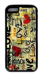 linJUN FENGipod touch 5 case, Cute Love 121 ipod touch 5 Cover, ipod touch 5 Cases, Soft Black ipod touch 5 Covers